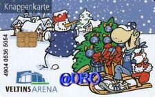 Knappenkarte + Weihnachten Maskottchen Erwin FC Schalke 04 + Hülle Restguthaben