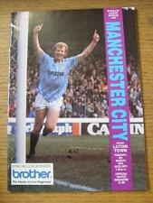 05/03/1991 Manchester City v Luton Town