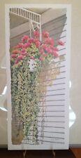 Linda Baker Michigan Welcoming Committee Art Print Floral Geraniums Ivy Porch