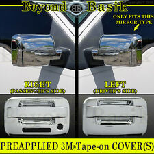 2004-2008 F150 Chrome Door Handles (W/O PSK W/Keypad 2Door) Mirror Covers Trims