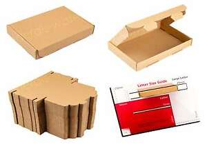 BROWN A6 / C6 SIZE BOX, LARGE LETTER, STRONG, CARDBOARD, SHIPPING, MAILING, POST