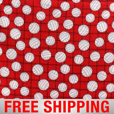 """Fleece Fabric Volleyball Red Style 1061 60"""" Wide Free Shipping"""