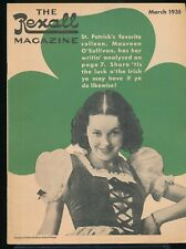 MAUREEN O'SULLIVAN St. Patrick's Day Cover of The REXALL Magazine March 1935 EX
