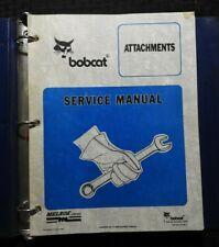 Bobcat Skid Steer Attach Broom Sweeper Trencher Tiller Planner Service Manual