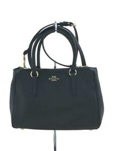 COACH Mini Sally Carry All 2Way Leather F44962 Leather Black Shoulder bag