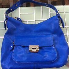 Gianni Bini Faux Leather Blue Shoulder Hobo Bag Purse