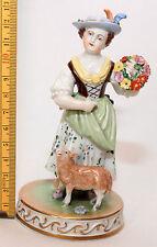 Dresdener-Porzellan mit Frauen-Motiv