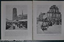 1914 BELGIUM magazine article, pre-WWI, history, people etc