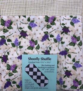 Shoo fly Shuffle Table Runner Quilt, Sew, FABRIC KIT - Heirloom Lilacs