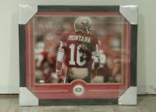 JOE MONTANA AUTOGRAPHED SAN FRANCISCO 49ERS  CUSTOM FRAMED 16 × 20 PHOTO JSA COA