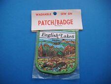 VINTAGE ENGLISH LAKES  SOUVENIR WOVEN PATCH/BADGE