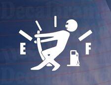 EMPTY FUEL GAUGE Funny Novelty Car/Van/Bumper/Window/Door Sticker