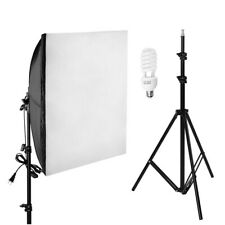 Softbox Boom Photograpy Kit 3x(24*24) 3x7ft Studio Tripod 3x45wLight Bulb