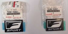 LEXUS OEM FACTORY FENDER F-SPORT EMBLEM SET 2011-2013 IS250 IS350