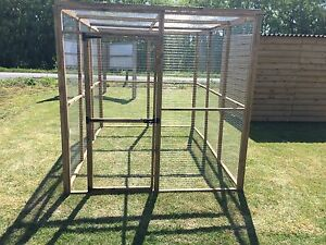 Animal Run 6ft x 9ft With Mesh Roof 19G Wire Chicken Rabbit Enclosure Pet Pen