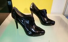 Diba high heel patent leather booties black women's size 9 good condition