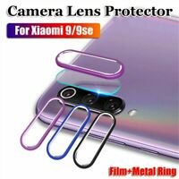 For Xiaomi Mi 9 Se Camera Lens Protector Tempered Glass Film & Metal Ring Cover