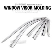 Door Window Chrome Vent Visor Rain Guard Deflector 6P for JEEP 2015-2018 Compass