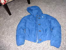 ABERCROMBIE GIRLS L LARGE BLUE WINTER COAT FEATHER/DOWN FILLED