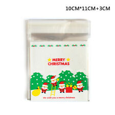 25PCS Christmas Gift Bag DIY Christmas Candy 10cm X 10cm Self Adhesive Party