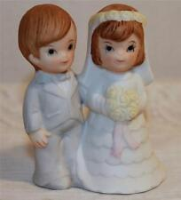 WEDDING CAKE TOPPER VINTAGE CERAMIC BRIDE GROOM FIGURINE SEMDER OF NEW YORK NICE