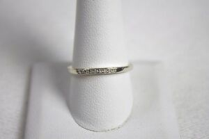 Sterling Silver & 1/20 Platinum Diamond Ring                            Lot 2123