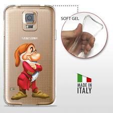 Samsung Galaxy S5 TPU CASE COVER PROTETTIVA GEL TRASPARENTE Disney Brontolo