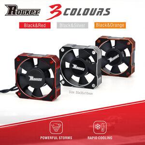 Rocket 35mm Metal Cooling Fan 21000RPM for 1/8 1/10 1/12RC Car Brushless Motor