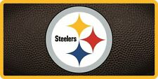 Pittsburgh Steelers Inlaid Acrylic License Plate with Team Ball Design