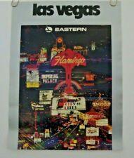 "EASTERN AIRLINES POSTER  ""Las Vegas""  1970's VINTAGE TRAVEL ORIGINAL"