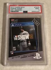 2017 TOPPS NOW #TSCR AARON JUDGE PSA 9 MINT - MLB THE SHOW COVER PHOTO