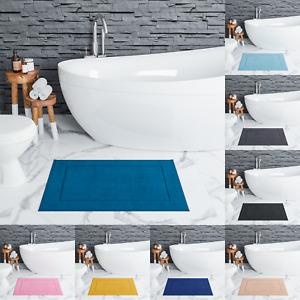 Nella Milan 100% Cotton Bath Mat Thick Heavy Bath Mat 50x80cm