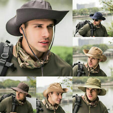 Bucket Hat Boonie Hunting Fishing Outdoor Cap Wide Military Unisex Hats US Ship