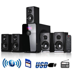 beFree Sound 5.1 Channel Surround Speaker System with Bluetooth FM Radio BFS-450