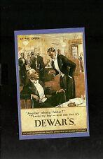 Nostalgia Postcard Good Taste-Dewars Whisky 1934