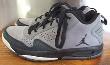 Air Jordan After Game II-8-Grey/Black Suede Leather-487002-003-Shoes-Elephant