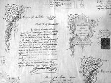 Stoff Dekostoff Schrift Grafik 100% Leinen france Shabby Vintage weiss 50 x140cm