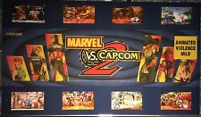 "Marvel vs Capcom 2 Big Blue Dynamo Arcade Marquee 27"" x 15.5"""