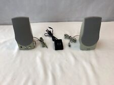 Phillips 2 Pc  Computer Speaker System MMS 101 With Bass Boost