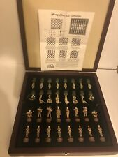 Detailed Military Soldier Chess Set Collectors Item