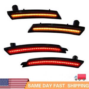 For MINI Cooper R58 R55 R56 Front Rear LED Side Fender Marker Lights Smoked Lamp