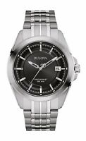 Bulova Precisionist Men's 96B252 UHF Quartz Black Dial 43mm Bracelet Watch