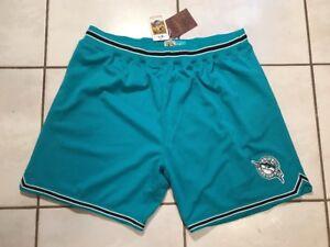 NWT MITCHELL & NESS Florida Marlins THROWBACK Shorts Men's 2XL