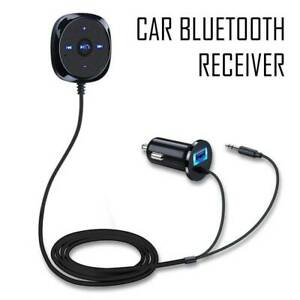 Bluetooth Audio Stereo Music Receiver Car AUX Adapter Cigarette USB Charger