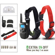 4 Modes Waterproof 1000 Yard 2 Dog Shock Training Collar Pet Trainer +LCD Remote