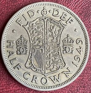 GB - 2/6 Half Crown Coin - 1949 (GY6)