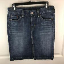 Citizens of HumanitySize 27 Sophia #300 Stretch Knee Length Denim SkirtJean