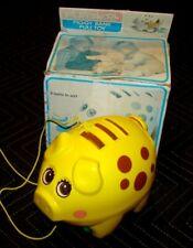 VTG 1980 80s PLAYSKOOL Piggy Bank Pull Toy ORIGINAL BOX No Coins USA EUC #551