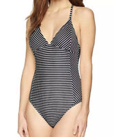 NWT Speedo Swimwear Women's Print Seamed One-Piece Black/White Size XS