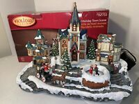 Holiday Living Animated Holiday Christmas Village Town Scene Music and Lights